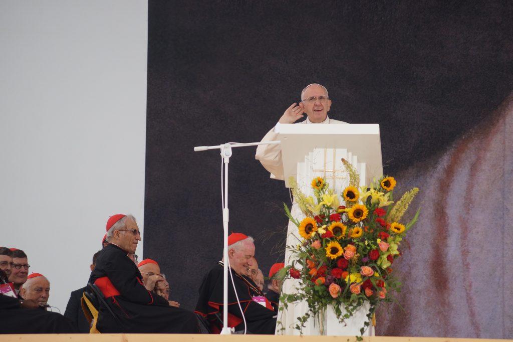 Begrüßungsfeier mit Papst Franziskus