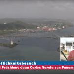 Der Höflichkeitsbesuch bei Präsident Juan Carlos Varela